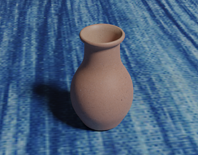 Clay Vase 3D model low-poly