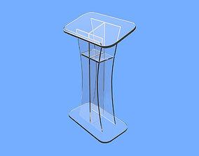 3D asset Glass Pulpit - Modern