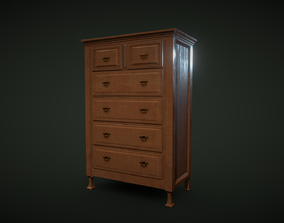classic drawer cabinet 3D model