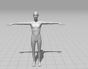 3D model Male Zombie ready for game