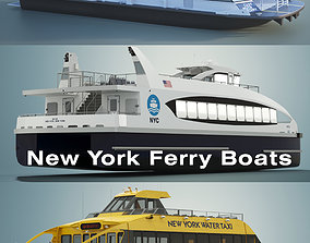 New York Ferry Boats 3D