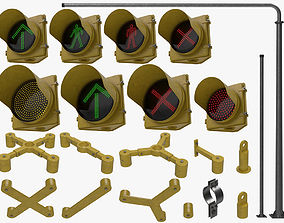3D Traffic Lights Set
