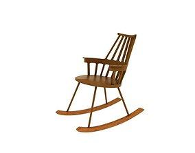 3D asset Kartell Comback Chair 01