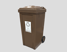 Recycle bin 3D model low-poly PBR