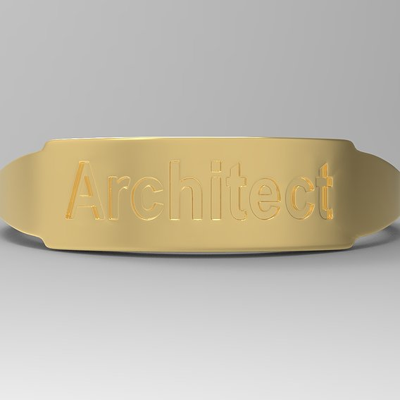 Architect Female Ring Gold