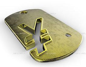 3D printable model Yen Symbol