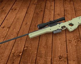 rigged AWM Sniper Rifle model 3D