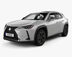 3D model Lexus UX with HQ interior 2018