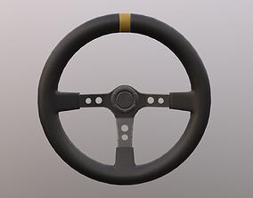 Sport steering wheel 3D asset game-ready