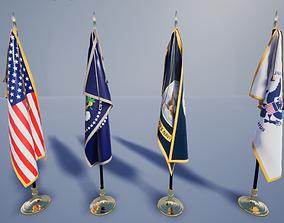 3D model Flag US