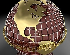 Globe D 3D model