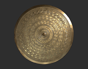 3D asset Authentic Viking Belt Plate