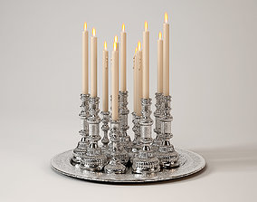 3D model Collection candles