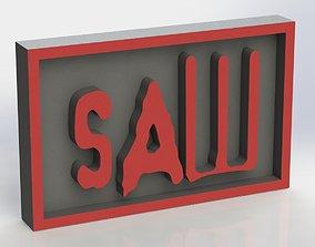 SAW Plaque 3D print model