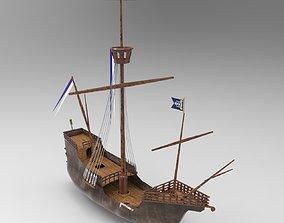 3D Santa Maria Ship 2