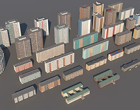 3D asset Germany DDR buildings pack