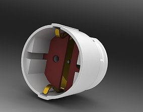 Power socket 3D model powersocket
