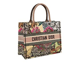 Dior Bag Small Book Tote Multicolor Coeur En 3D asset