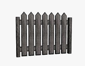 Fence wooden 3D model