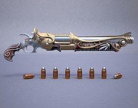 shotgun 3D model Fantasy rifle