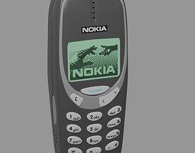 cellular 3D model Nokia 3310