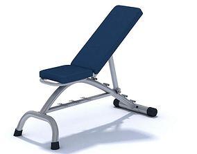 Blue Multi Position Gym Bench 3D model