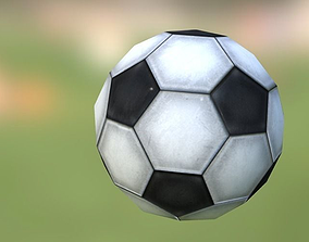 Low-Poly Soccerball 3D asset