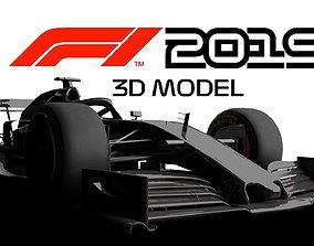 VR / AR ready wheel F1 2019 3D MODEL GAMES READY