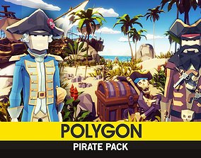 POLYGON - Pirate Pack 3D asset low-poly