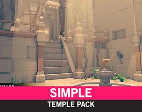 Simple Temples - Cartoon Assets 3D model realtime
