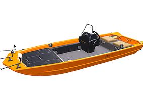 Carp Fishing Boat PBR 3D model