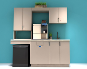 3D asset Office Kitchen Cabinets
