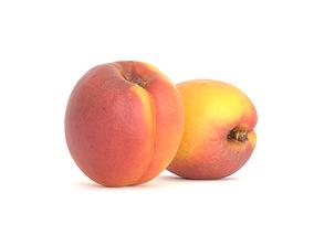3D asset Apricot Fruit Photoscan