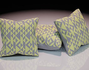 Contemporary colourful cushion design 6 3D model