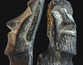 Enlight 3D Sculpture - Moai VR / AR ready