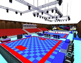 3D Karate Tatami Sports Hall 01