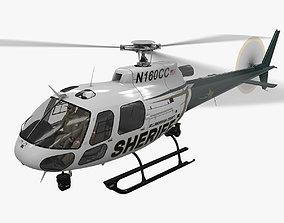 AS-350 Hillsborough County Sheriff Animated 3D model