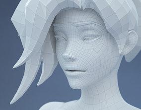 3D model Low Poly Base Mesh Female