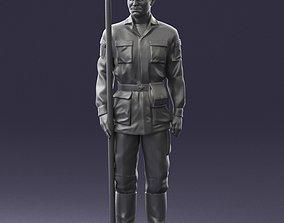 Man in military uniform 0116-10 3D Print Ready army