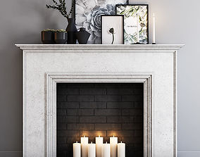 Decorative fireplace 3D
