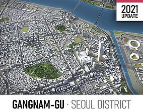 3D model Seoul - Gangnam