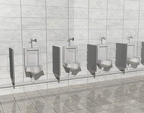 low-poly Mensroom Urinal 3D model