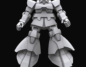 3D Gundam mobile suit MS09 DOM model