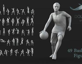 3D printable model 49 Basketball Player figures