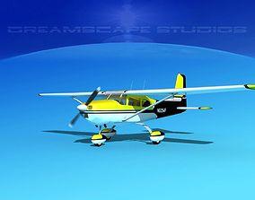 3D Cessna 172 Skyhawk 1958 V04