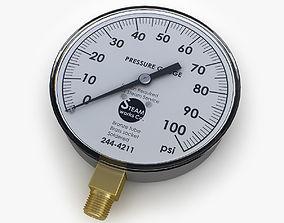3D model Steam pressure gauge
