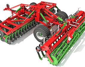 Agro Trailed Disc Harrow 3D