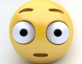 3D asset Emoticon SURPRISED