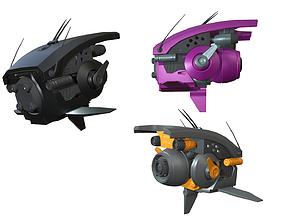Sci-fi Drone 3D model realtime