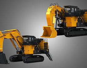 3D EX8000-6 - Mining Excavator and Shovel 2 in 1